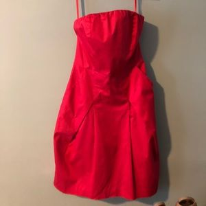 Coral Strapless Dress - worn once!